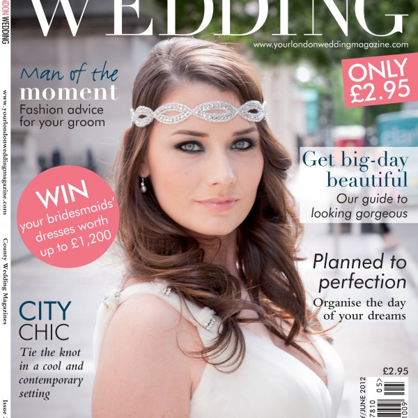 I'm on the cover of Your London Wedding
